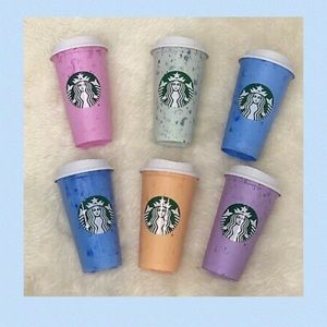 Starbucks Limited Edition Marble Pastel Color Cups